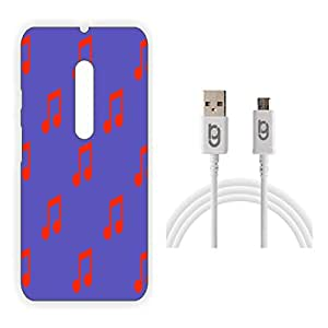 Designer Hard Back Case for Moto X Play with 1.5m Micro USB Cable