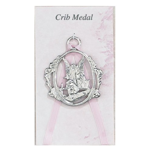 McVan Inc. Guardian Angel Crib Medal Pink - Décor Gift Religious PW6-P-MCVAN