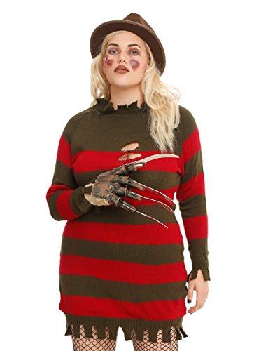 [A Nightmare On Elm Street Miss Krueger Costume Plus Size] (Women Freddy Krueger Costumes)