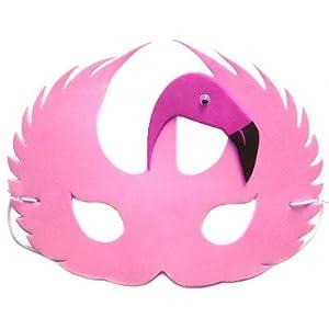 pink flamingo foam face mask for fancy dress masquerade toys games. Black Bedroom Furniture Sets. Home Design Ideas