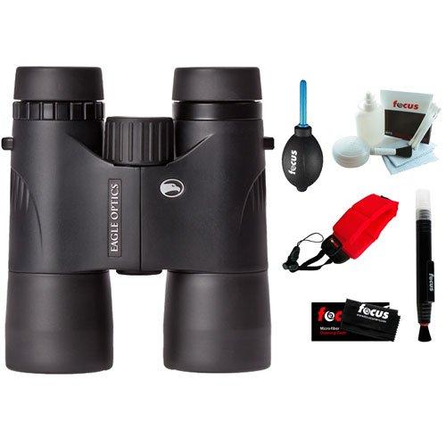 Eagle Optics Shrike 10X42 Roof Prism Binocular Rgr-4210 + Foam Float Strap + 5-Piece Cleaning Kit + Cleaning Cloth + Dust Blower + Cleaning Pen