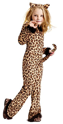 Pretty Brown Leopard Girls Costume