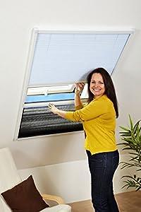 Kombi Dachfensterplissee Sonnenschutz Fliegengitter Plissee Alurahmen 80 x 160  BaumarktÜberprüfung und Beschreibung
