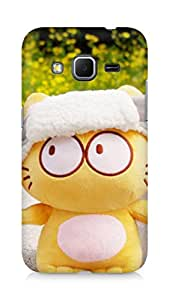 Amez designer printed 3d premium high quality back case cover for Samsung Galaxy Core Prime (Cute Cat Doll)