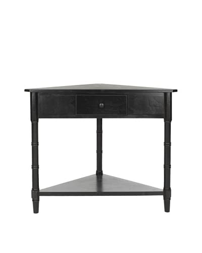 Safavieh Gomez Corner Table, Distressed Black