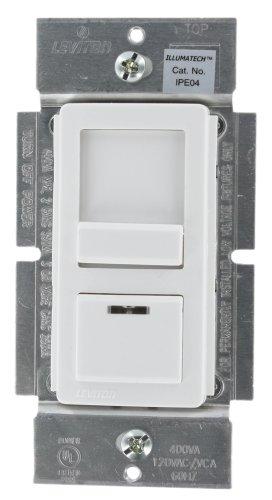 Leviton Ipe04-1Lz Illumatech 400Va 300W Preset Electronic Low-Voltage Slide Dimmer, Single Pole And 3-Way, White/Ivory/Light Almond