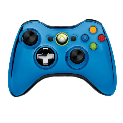Generic Blue Wireless Game Gamepad Controller For
