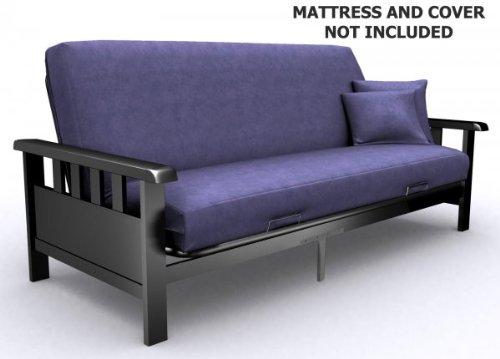 American Furniture Alliance Modern Loft Skyline Mission Futon Frame, Full, Black