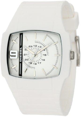 Diesel DZ1321 Unisex White Rubber Strap White Dial Watch