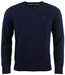 Tommy Hilfiger Mens Long Sleeve Pacific V-Neck Pullover Sweater - L - Navy