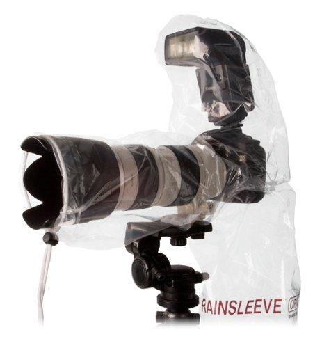 Optech USA Rain sleeve Protectionpour appareil photo de l'eau/poussière Transparent