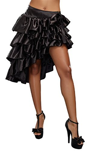 [hendeo ChicWomen's Ruffled Skirt BlackMedium] (Car Wash Costume Ideas)