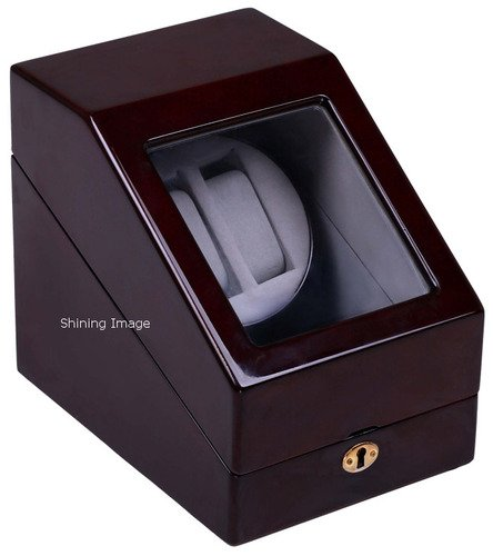 Top Quality Double Automatic Wood Watch Winder with 3 storages