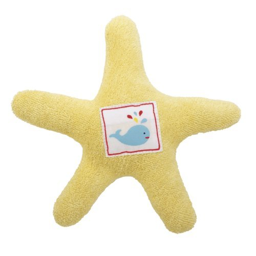Under the Nile Star Fish Teether Toy, Yellow