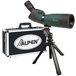 Alpen 20-60x80 Angled Body Waterproof Spotting Scope Kit by Alpen Optics