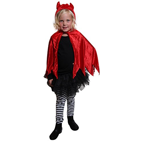 Red Devil Dress-Up Hooded Cape