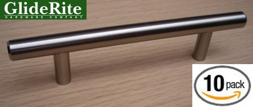 5001-96-Ss-10 Gliderite Stainless Steel 6-Inch Solid Bar Cabinet Pull (Pack Of 10) front-1082781