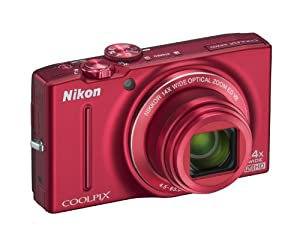 Nikon COOLPIX S8200 Compact Digital Camera - Red (16.1MP, 14x Optical Zoom) 3 inch LCD