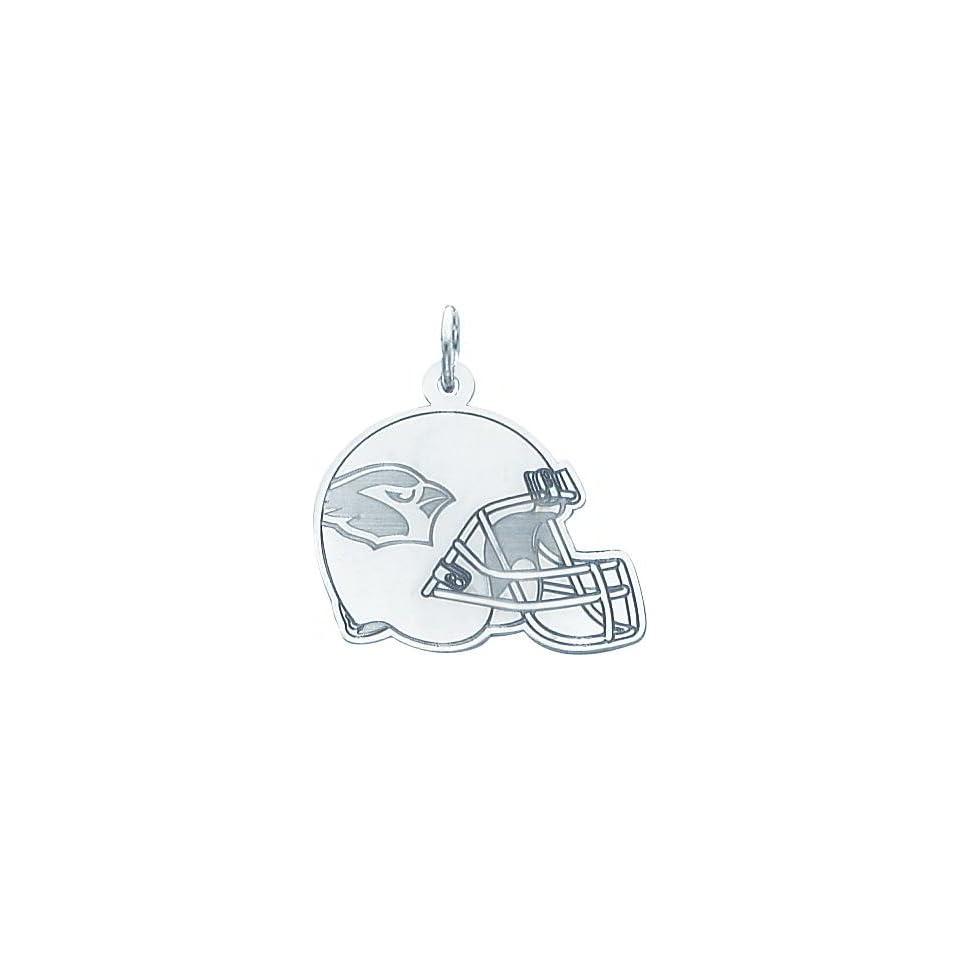 14K White Gold NFL Arizona Cardinals Football Helmet Charm