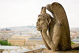 Wallmonkeys WM329495 Chimera on Notre Dame Cathedral Paris Peel and Stick Wall Decals (24 in W x 16 in H)