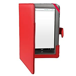 eForCity Leather Case for Barnes and Noble Nook Color, Red