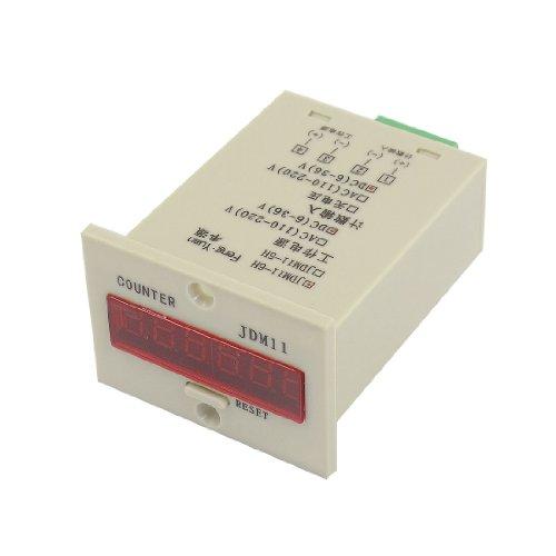 Jdm11-6H Resettable 0-999999 Led Display Panel Digital Counter Dc 24V