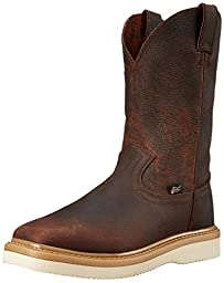 Justin Original Work Men\'s Premium Light Duty Square Toe Work Boot, Gold/Tan, 9.5 M US