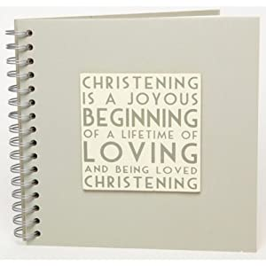 Christening Guest Book - East of India - NEW DESIGN for 2012