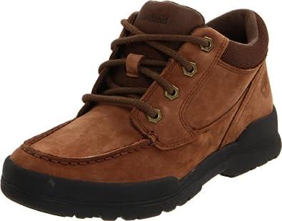 (暴跌)天木兰Timberland Earthkeepers Trekker Moc Toe真皮牛筋底童鞋黑,  $40.15