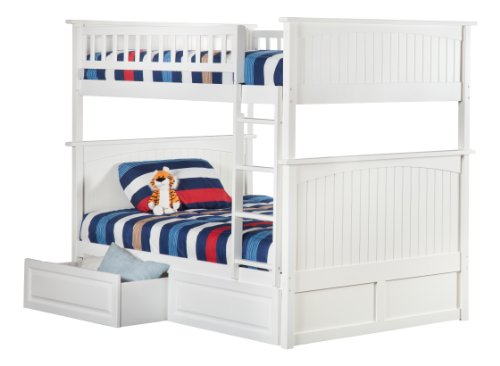 White Bunk Bed Twin Over Full 9582 front