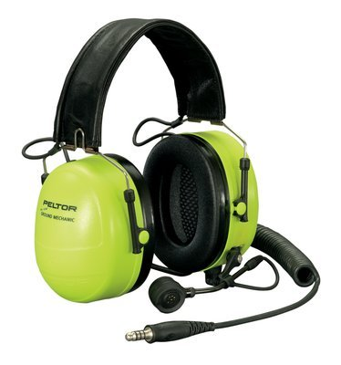 Peltor Ground Mechanic Head Ground Mechanic Headset, Hi-Viz Cups, Nrr 25 Db Mt7H79F-01 Gb