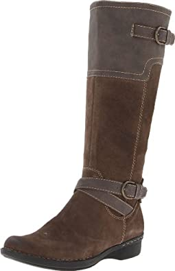 Clarks Womens Whistle Woven Leather Boots (5, Taupe)