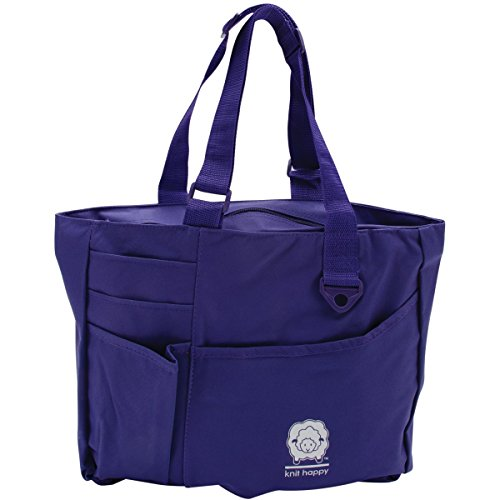 K1C2 Knit Happy Bright Bag, 15 by 13 by 4-Inch, Purple