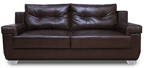 Adorn India Soleado Three Seater Sofa (Brown )