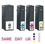 4 Brand new Compatible compatible Lexmark 100 Ink Cartridges for S305 S405 / S505 S605 / Pro205 Pro703 / Pro705 Pro706 / Pro803 Pro805 / Pro903 / Pro904 / Pro905Series Printer Models