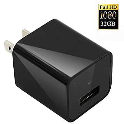 AC Wall Plug Adapter,UYIKOO® 1080P HD USB Wall Charger Hidden Spy Wall Camera Nanny Spy Camera Adapter With 32GB Internal Memory