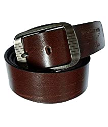 Longhorns Men's Belt (CA_1145_Brown_Medium)
