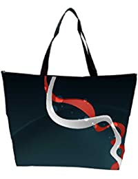 Snoogg White And Red Pathway Design Designer Waterproof Bag Made Of High Strength Nylon