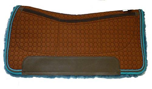 Mattes Westernpad Square Pad Chocolate-Blue Kollektion mit Dreitaschen-Correction-System - sofort Größe M