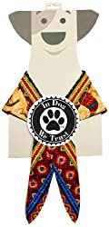 In Dog We Trust Chili Pepper Bandana, Small, Taupe