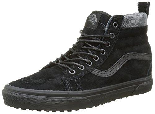 Vans SK8-Hi, Scarpe da Ginnastica Alte Unisex - Adulto, Nero (Mte Black/Black/Camo), 43 EU