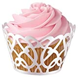 Wilton Swirl Cupcake Wraps, 18Pack - Pearl White