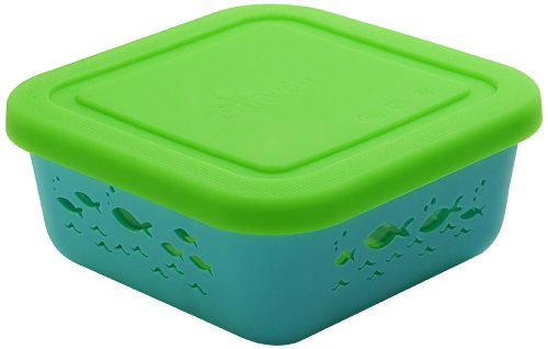 Brinware School of Fish Glass and Silicone Food Container