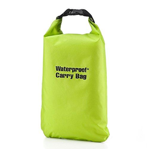 サンワダイレクト 防水ドライバッグ 折りたたみ可能 簡易防水 4リットル グリーン 200-BAG100WPG