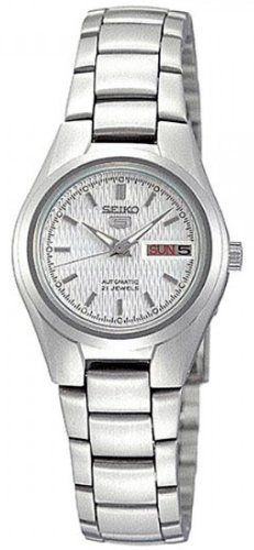 Seiko Women's SYMC07 Seiko 5 Automatic Silver Dial Stainless Steel Watch