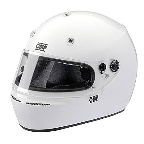 Omp - Casque Omp Karting Grand Prix 10 K Snell K 2010 Intégral Blanc M
