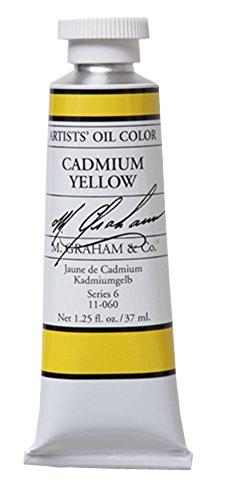 M. Graham Artist Oil Paint Cadmium Yellow 1.25oz/37ml Tube (Cadmium Yellow Oil Paint compare prices)