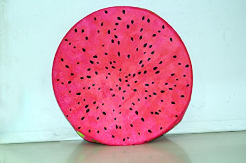 Biaba Collection (Buy 1 Get 1 Free Offer)Cute Lovely 3D Cartoon Fruit Watermelon Or Wood Shape Inner Inflatable Ottoman Stool Plush Air Filled Soft Comfort Seat With Pump - B0733BGXQL