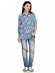 Femella Women's Shirt (DS-1599575-888_Green_Small)