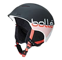 Bolle Synergy Snow Helmets, Soft Black and Coral, 54-58cm
